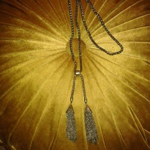 Boho Gold Chain Tassel Necklace